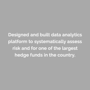 Caserta designed and built data analytics platform to systematically assess risk for one of the largest hedge funds in the country.