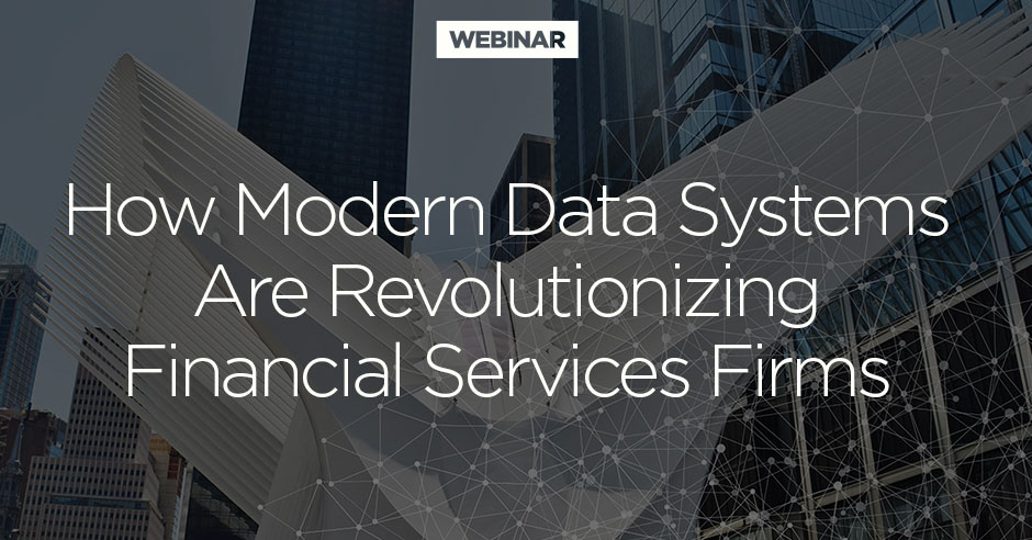 Modern Data Architecture Financial Services Webinar