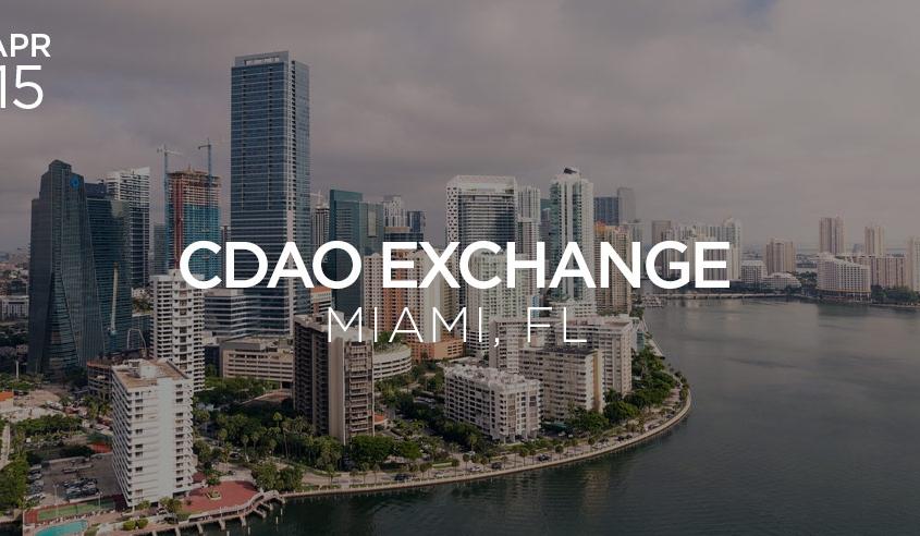 cdao exchange miami april 2019