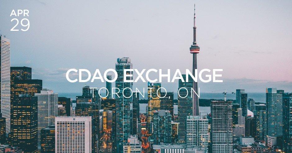 cdao exchange toronto april 2019