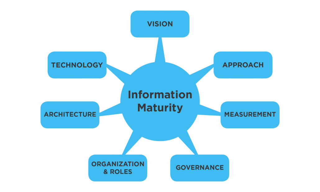 information maturity matrix graphic